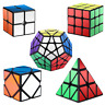ROXENDA Speed Cubes, [5 Pack] Speed Cube Set - 2x2x2 3x3x3 Megaminx Skew Pyramid