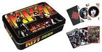 KISS  2 FULL DECKS OF CARDS IN DISPLAY TIN - armageddon gift tin