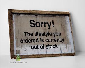 BANKSY Sorry Lifestyle Graffiti Canvas Art Wall Art Print Picture Canvas-C815