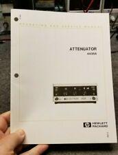 HP 4436A Attenuator Operating & Service Manual   Free Shipping