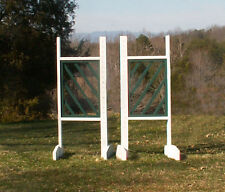 Horse Jumps Slant Picket Wooden Wing Standards 5ft/Pair - Color Choice #224