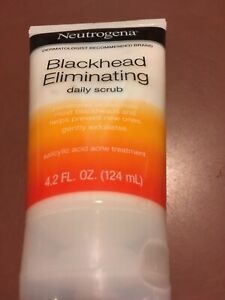 Neutrogena Blackhead Eliminating Daily Scrub Gently Exfoliates 4.2 Fl oz