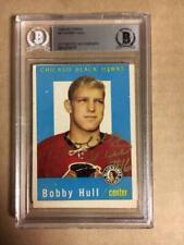 Bobby Hull Chicago Blackhawks Signed 1959-60 Topps Card BAS