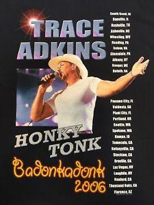 TRACE ADKINS HONKY TONK BADONKADONK 2006 TOUR VINTAGE BLACK TEE SZ XL T41u