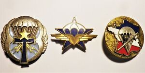 Insignes parachutiste commando Indochine libération FFL maquis FFI 39-45 14-18