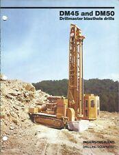 Equipment Brochure - Ingersoll-Rand - DM45 DM50 Drillmaster Mining 1981 (E4003)