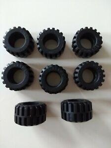 8 X Lego black tyres 87697
