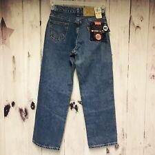 Levi's Boys 565 Wide Leg Jeans Size 14 (27/27) Dark Wash Orange Tab
