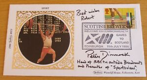 """FDC (First Day Cover) Signed Peter Dimmock (2), """"BBC Sportsview"""""""