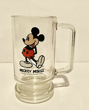 New ListingVintage mickey mouse clear glass mug / cup a must see collectible