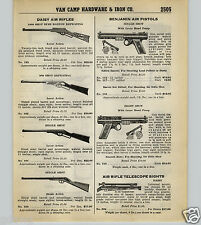 1939 40 PAPER AD Daisy Air Rifle Telescope Sight Scope Buzz Barton