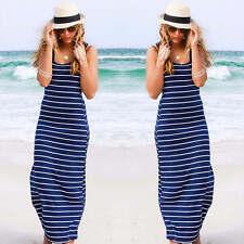 UK Womens Maxi Boho Floral Summer Beach Long Skirt Evening Cocktail Party Dress