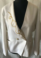 Zeitlose RICHARDs Damen JACKE Blazer in weiß Größe 42 Viskose Mix tolles Design