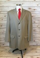 PAVONE Suit Coat 46XL Gray Wool Pick Stitch Dual Vent Super 120's Made In Italy