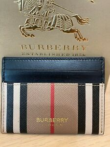 Burberry Card Holder Case New 100% Authentic Leather Beige RRP 200$