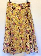 Silk Formal Floral Flippy, Full Skirts for Women
