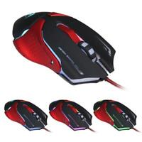 luxury 6D LED Optical USB Wired 3200 DPI Pro Gaming Mouse For Laptop PC Game