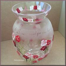 Sister Crackled Glass Vase Candle Holder Pavilion Gift Company Free US Shipping