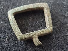 Medieval stirrup type bronze buckle uncleaned condition found in Britain L40v