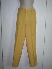 Darling Vintage 1960s Yellow Silk Geoffrey Beene Jeans-Pants- size 8