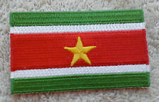 SURINAME FLAG PATCH Embroidered Badge Iron or Sew on 4.5cm x 6cm South America