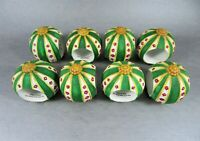 Hand Painted Porcelain Bisque Napkin Rings Party Fantasy Carriages Set Of 8