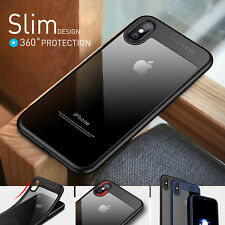 iPhone X Xs 8 7 6s 6 Plus Case Slim Soft Bumper Shockproof Cover For Apple