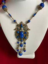 Egyptian Blue Lapas Necklace