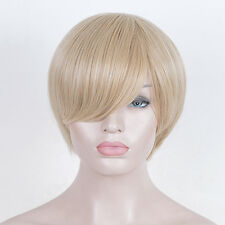 Platinum Blonde strawberry Short Wig Pixie Cropped Unisex hair cut Party Wigs