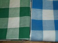 Closed Vintage Feed Sack Feed Bag Quilt Fabric Blue & White Checks / Squares zb2