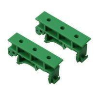 PCB Din C45 Rail Adapter Circuit Board Mounting Bracket Holder Carrier 35mm 1Set