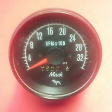Vintage Mack Truck Mechanical Tachometer Gauge