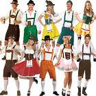 Mens German Bavarian Oktoberfest Ladies Beer Maid Fancy Dress Costume Lederhosen