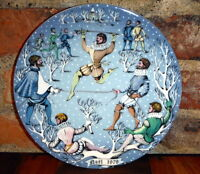 Haviland Twelve Days of CHRISTMAS Plate 10 Lords A Leaping 1979 Limoges France