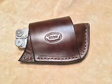 Custom Leather Crossdraw Sheath for LEATHERMAN Wave, Sidekick, Wingman