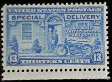 1944 13c Motorcycle, Special Delivery, Blue Scott E17 Mint F/VF NH