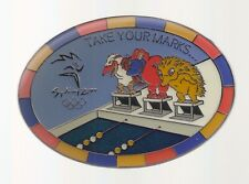 2000 Sydney Olympic Pin Take Your Marks Mascots Swimming Large LE 807/5000