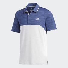 adidas Golf Mens 2018 Ultimate365 Heather Stretch Short Sleeve Polo Shirt Top XL Indigo/blue Logo