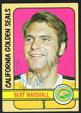 Bert Marshall #162 signed autograph auto 1972-73 Topps Hockey Trading Card