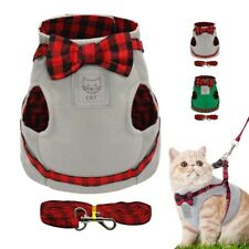 Soft Cotton Cat Harness & Leash Adjustable Strap Vest for  Dog Cat Etc(S-XL) Hot