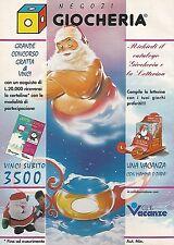 X0300 Richiedi il catalogo GIOCHERIA - Pubblicità 1992 - Vintage Advertising