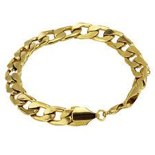 Luxury 6 mm width 18 k Gold Plated Bracelet for Men Man Mens Jewellery BB109