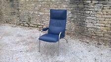 Fauteuil De Sede DS270 cuir bleu
