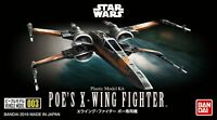 Bandai 206319 Star Wars Poe's X-Wing Fighter 1/144 Scale Plastic Model Kit