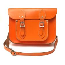 The Cambridge Satchel Company Fluorescent Neon Orange Crossbody Bag Medium Size