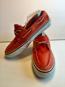 Sperry Top Sider Mens Size 10.5 Coral Boat Shoes
