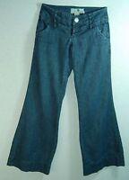 OLDER Wide Waist WIDE Leg FLARE Thin SPARKLY Lurex Denim JOLT Low Rise Jeans! 5