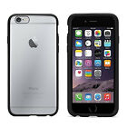 NEW GENUINE GRIFFIN REVEAL IPHONE 6 6S SLIM HARD CASE BLACK BUMPER CLEAR COVER