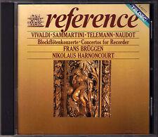 HARNONCOURT & Frans BRÜGGEN Recorder Con Sammartini Telemann Naudout Vivaldi CD