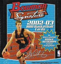10 Box Sealed Hobby Case : 2002-03 (2003) Bowman Signature Basketball Hobby Case